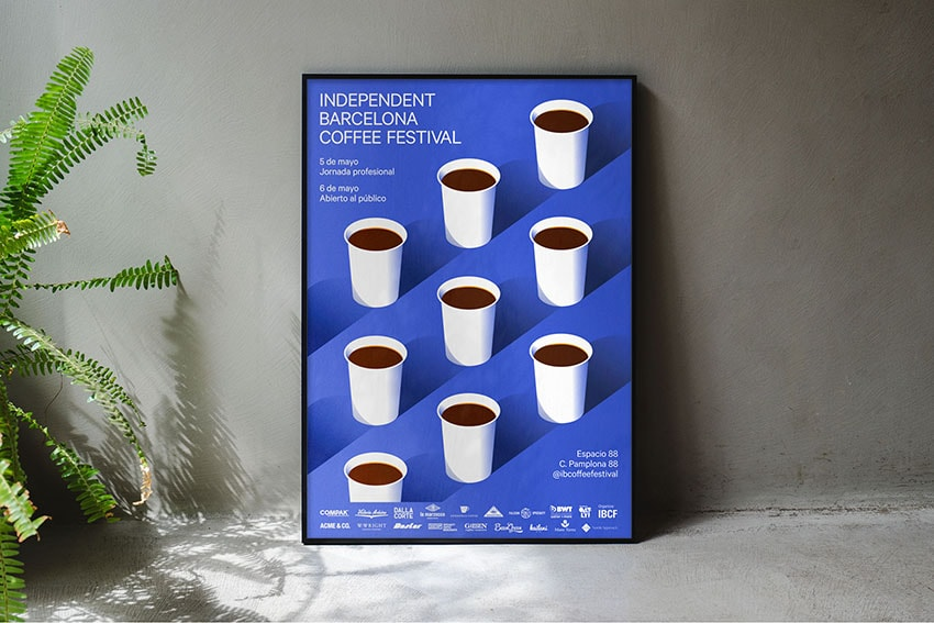 IBCF Independent Barcelona Coffee Festival. Cartel desarrollado por HEY Studio