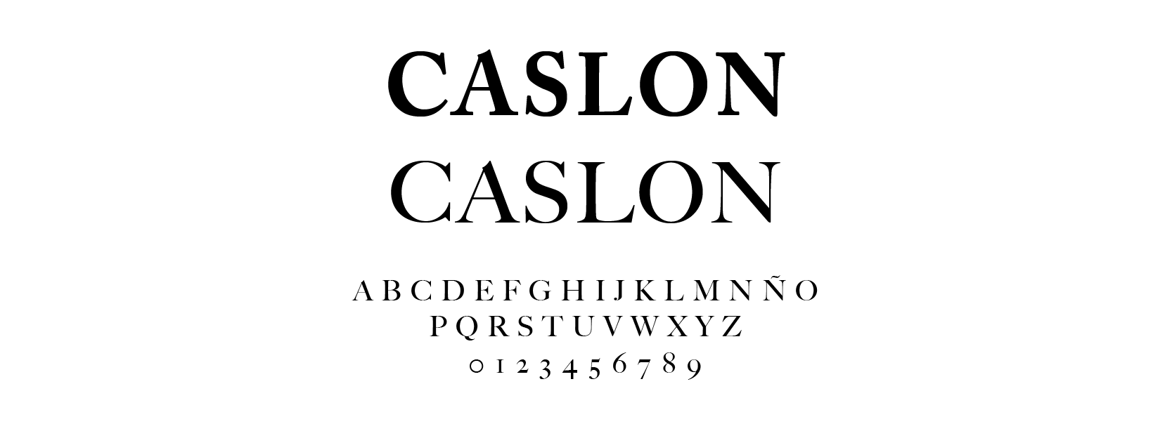 Tipografía William Carslon 1734